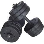 Набор 2 гантели по 10 кг. разборные (цемент/пластик), общий вес 20кг