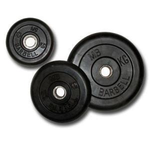 Литые обрезиненные диски Barbell под диам. 31 мм, 5,0 кг