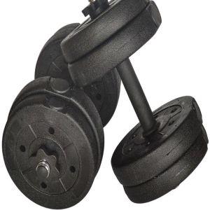 Набор 2 гантели по 5 кг. разборные (цемент/пластик), общий вес 10кг