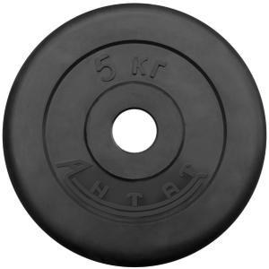 Диск обрезиненный АНТАТ, чёрный, 26 мм, 5кг