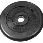 Barbell Олимпийские диски 20 кг 51 мм