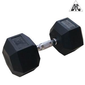 Гантели DFC гексаг. обрезиненная пара 27.5 кг DB001-27.5