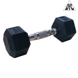 Гантели DFC гексаг. обрезиненная пара 4 кг DB001-4