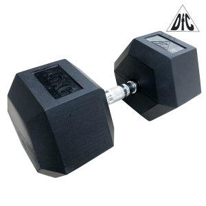 Гантели DFC гексаг. обрезиненная пара 45 кг DB001-45