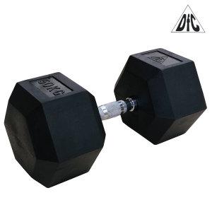 Гантели DFC гексаг. обрезиненная пара 50 кг DB001-50