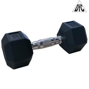 Гантели DFC гексаг. обрезиненная пара 9 кг DB001-9