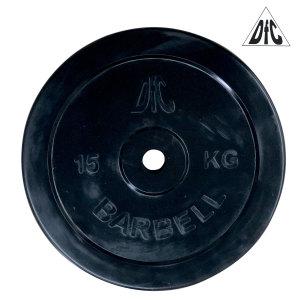 Диск обрезиненный DFC, чёрный, 26 мм, 15 кг