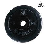 Диск обрезиненный DFC, чёрный, 26 мм, 2,5 кг