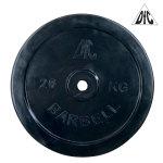 Диск обрезиненный DFC, чёрный, 26 мм, 20 кг