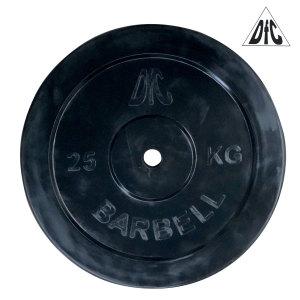 Диск обрезиненный DFC, чёрный, 26 мм, 25 кг