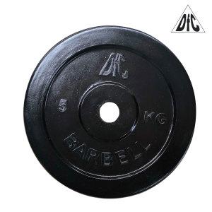 Диск обрезиненный DFC, чёрный, 26 мм, 5 кг