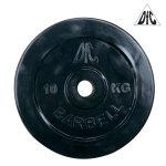 Диск обрезиненный DFC, чёрный, 31 мм, 10 кг